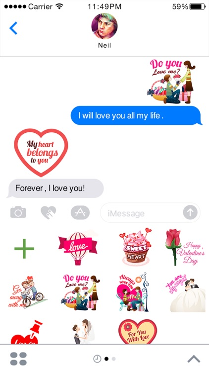 Lovemoji - Love emoji for iMessage Stickers