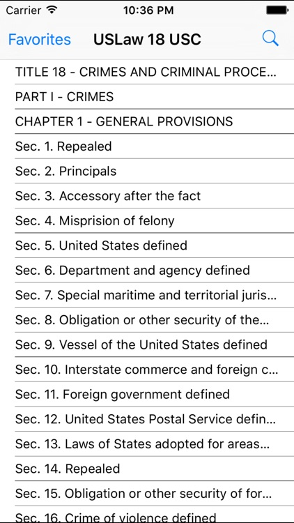 USLaw 18 USC - Federal Criminal Law screenshot-1