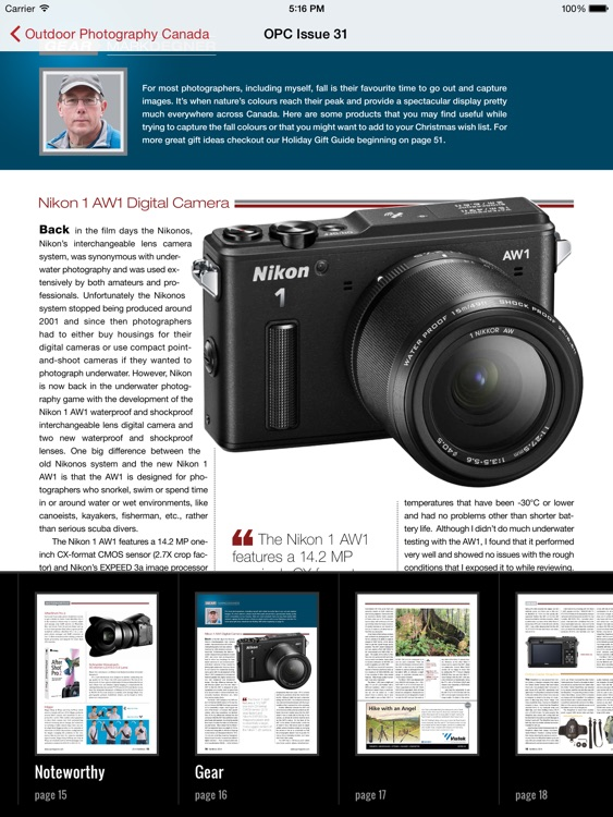 Outdoor Photography Canada Magazine screenshot-3