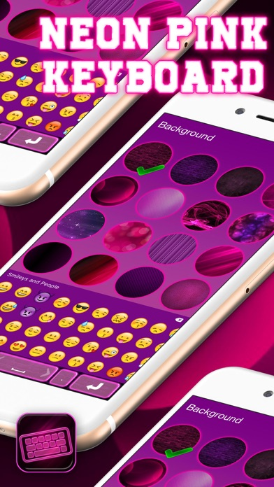 Neon Pink Keyboard – Cool Text Fonts and Backgrounds with
