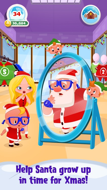 My Newborn Santa - Grow A Christmas Baby screenshot-0