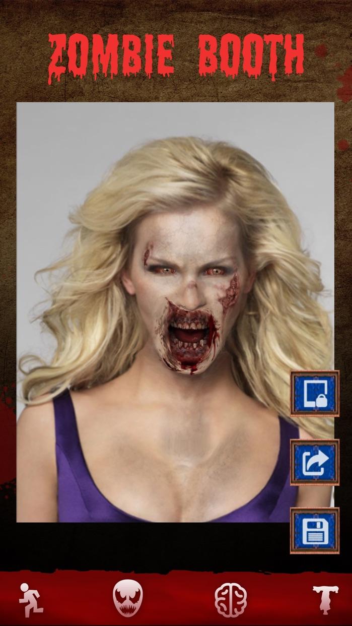 Zombie Games - Face Makeup Cam Screenshot