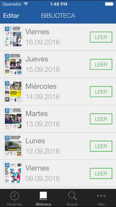 Screenshot for 20minutos Ed. Impresa Madrid in Peru App Store