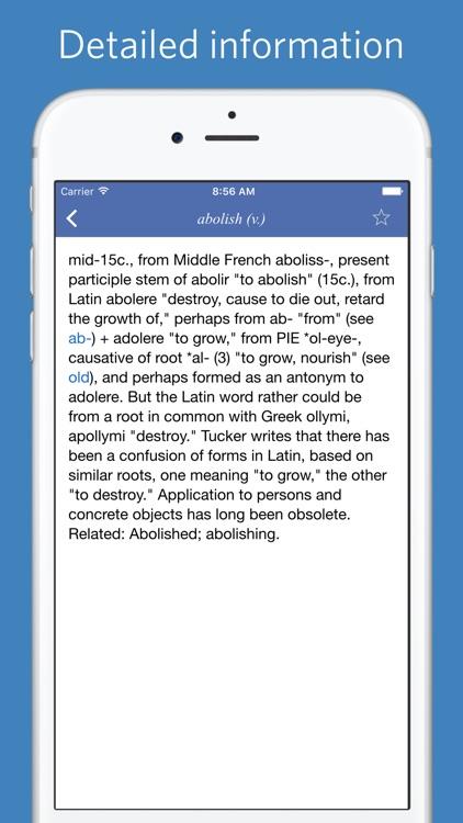 English etymology - Advanced Edition