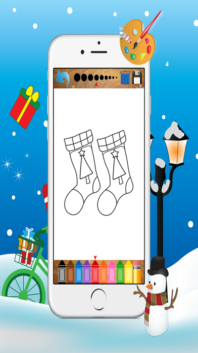 Christmas Coloring Book - Free Kids Colors Pages screenshot four