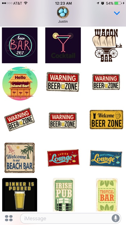 Bar Stickers