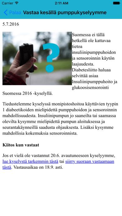 K-S Diabetes Jäsenlinkki screenshot two
