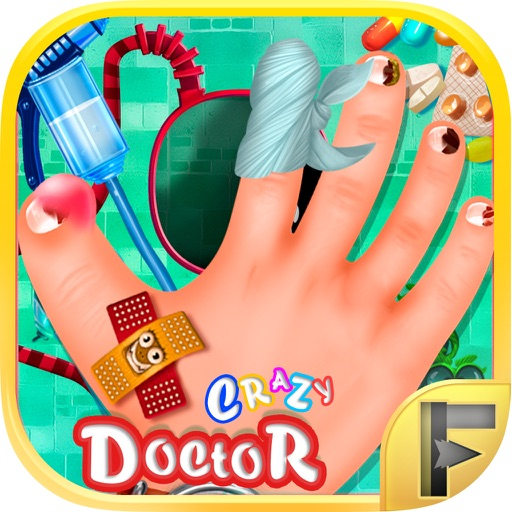 Crazy Hand & Nail Doctor Surgery - Free Kids Games iOS App