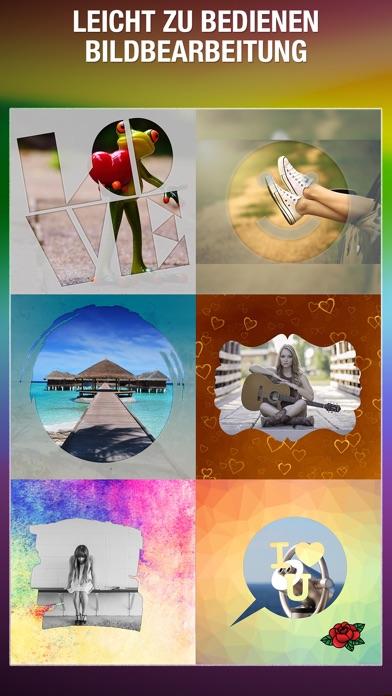 Shape Over Pic Fortgeschrittener text und bildbearbeitung - Hinzufügen auflage silhouette, symbole und bilderrahmen über bildScreenshot von 1
