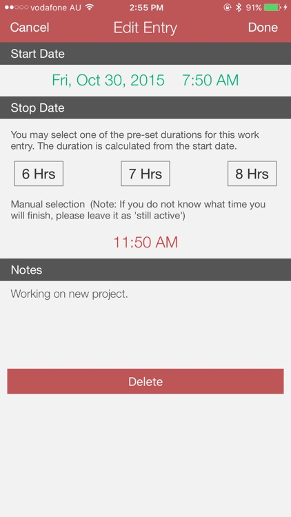Work Clock PRO screenshot-3