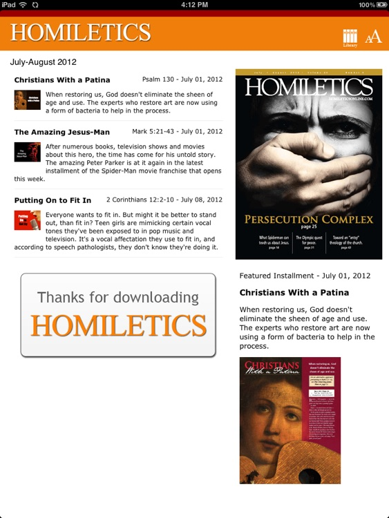 Homiletics for iPad