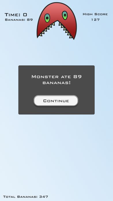 Tap Fast - Feed a Cute & Funny Little Monster with Bananas by Tapping screenshot three