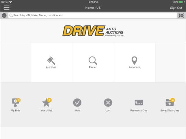 DRIVE Auto Auctions on the App Store
