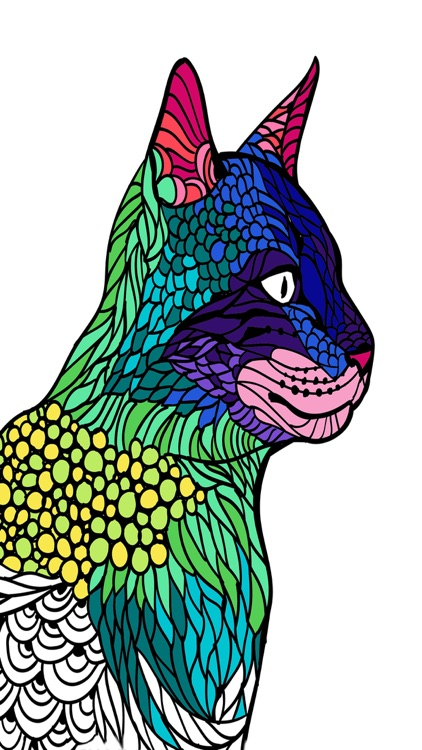 Cats mandalas coloring book for adults - Premium