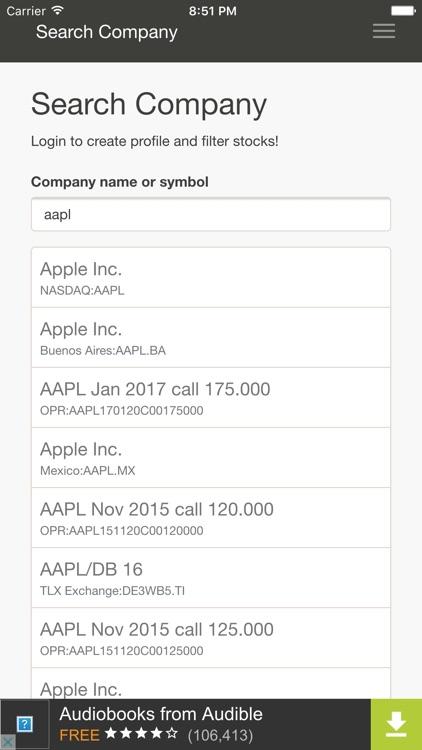 Stock Analysis Free screenshot-4