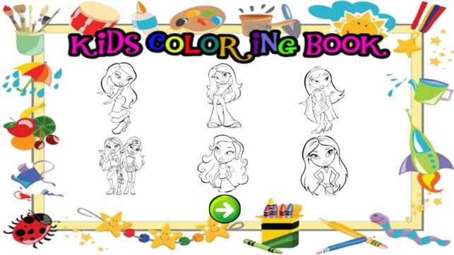 All girl princess games free crayon coloring games for toddlers on ...