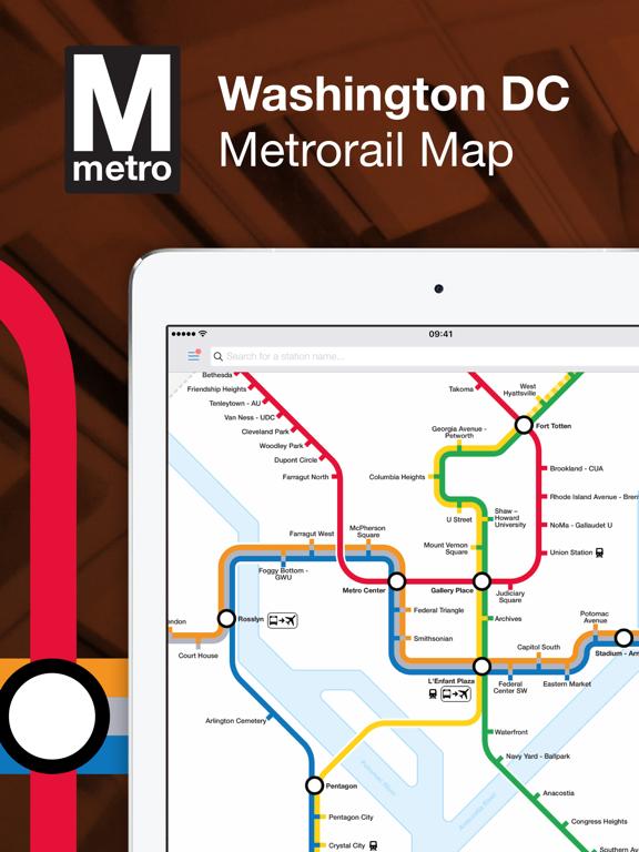 Washington DC Metro Route Map | App Price Drops on