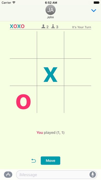 xoxo - Tic Tac Toe for iMessage Screenshot