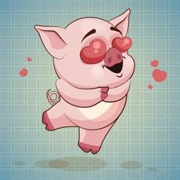 Sticker me: Funny Pig