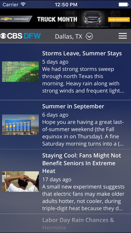 CBS DFW Weather screenshot-4
