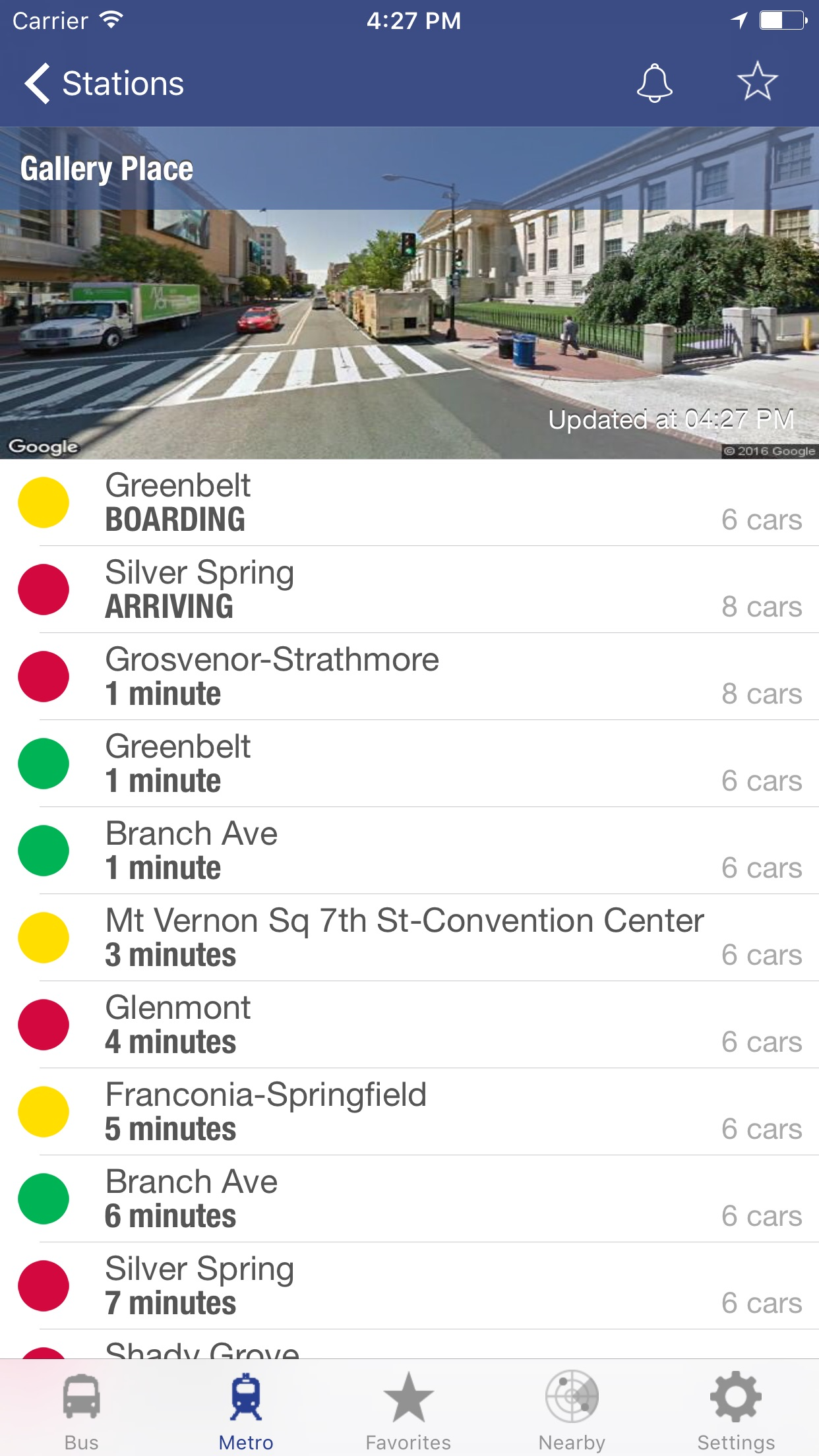 DC Metro and Bus Screenshot