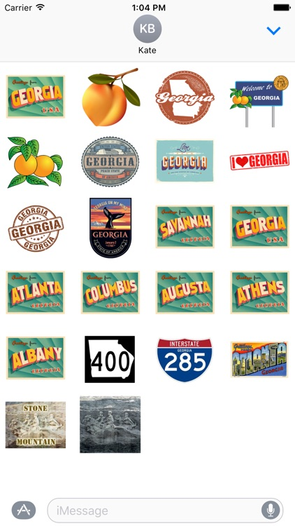 Georgia Stickers