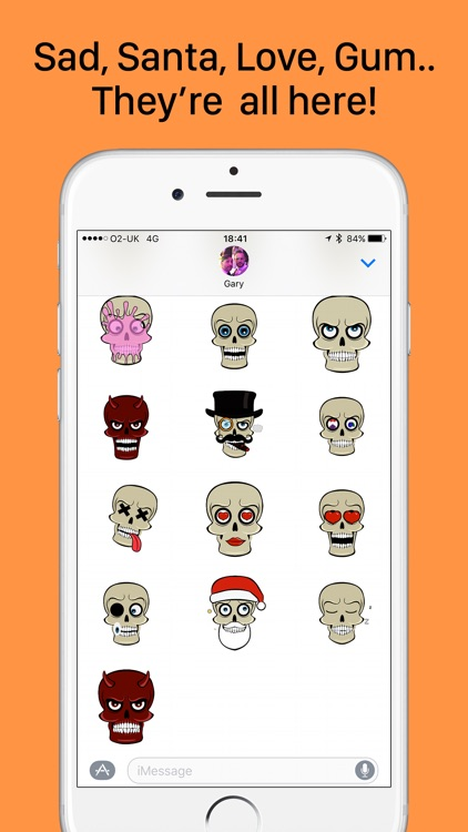 SkullMoji - Animated Fun Skull Stickers Halloween screenshot-2