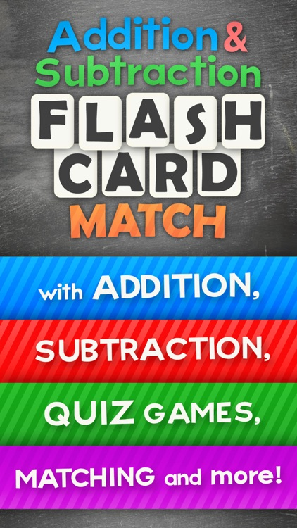 Addition and Subtraction Math Flashcard Match Games for Kids in 1st and 2nd Grade screenshot-0