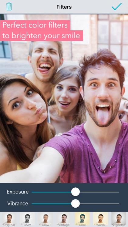 Selfie Editor: face tune, beauty cam photo makeup screenshot-3