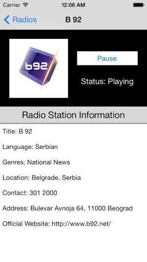 Serbia Radio Live Player Serbian Srbiјa Srpski Radio On The