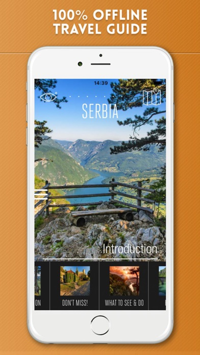 Serbia Travel Guide with Offline City Street Map