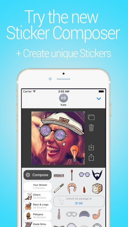 Cune Stickers - Make Your Own Sticker Emoji