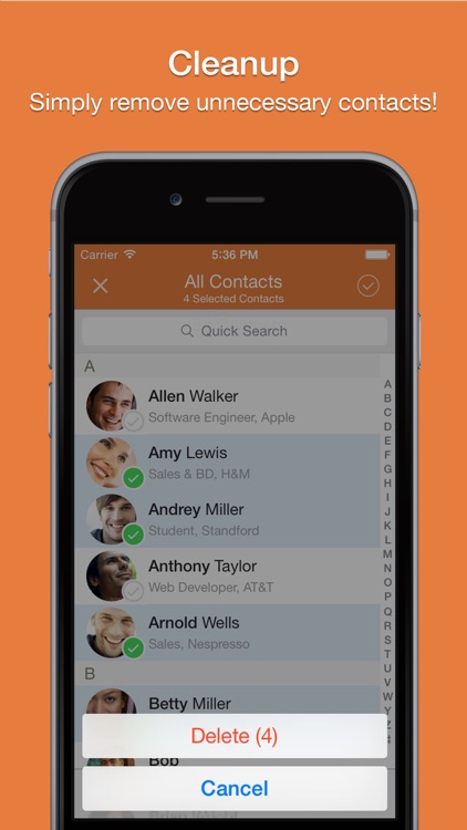 Cleaner - Remove Duplicate Contacts screenshot-4