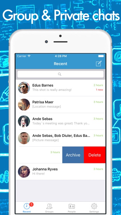 CHATeau - smart messenger with group chats