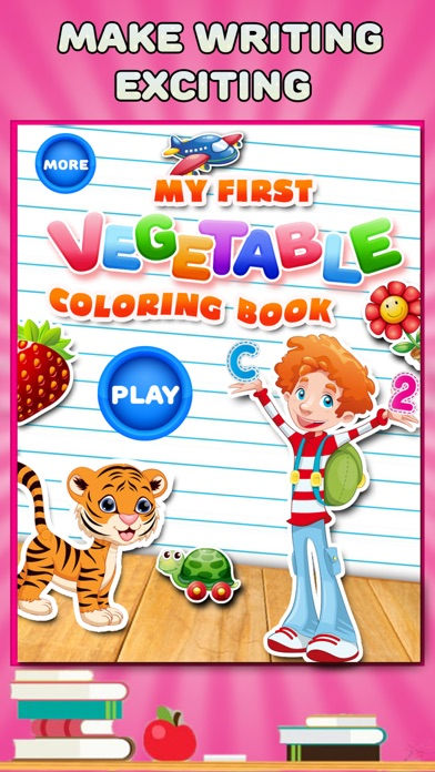 My First Vegetable Coloring Book - Veggie Learning