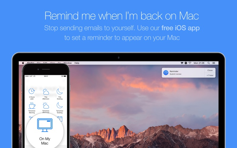 Later - Create Quick Reminders Screenshots