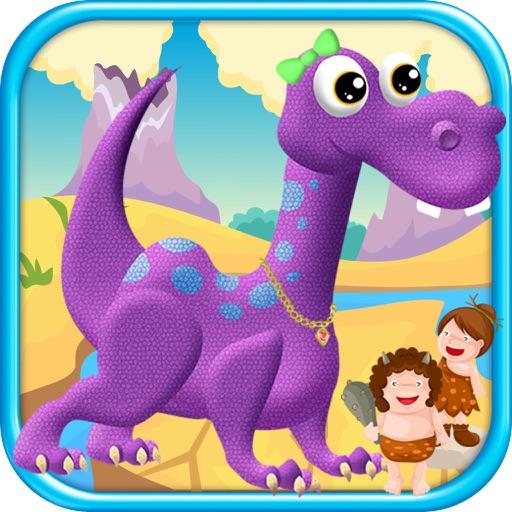 Dinosaur Dress Up Virtual Salon Makeover Kids Game