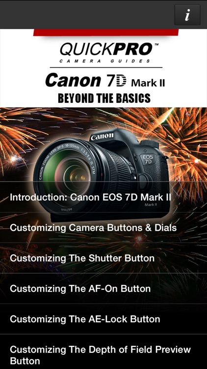 QuickPro Guide for Canon 7D Mark II Advanced HD
