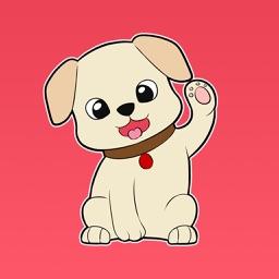 Buddy the Labrador - Dog Stickers