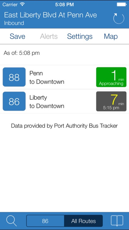 Transit Stop: Pittsburgh Port Authority Tracker.