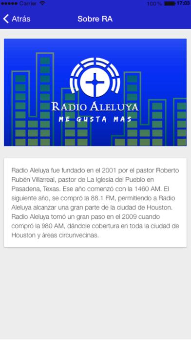 Radio Aleluya screenshot three