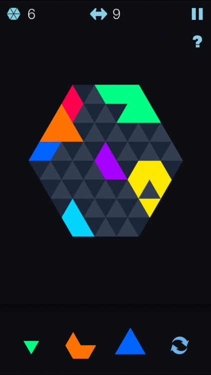 Color Hexagon Merged! - six hexa jigsaw puzzle fit screenshot-3