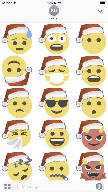 Santa Emoji screenshot-1