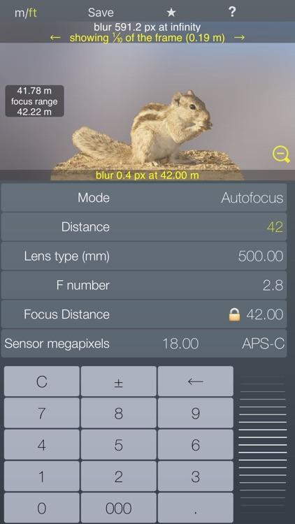 Focus Lt hyperfocal DOF depth of field calculator