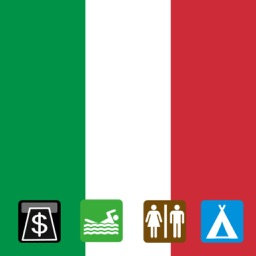 Leisuremap Italy, Camping, Golf, Swimming, Car parks, and more