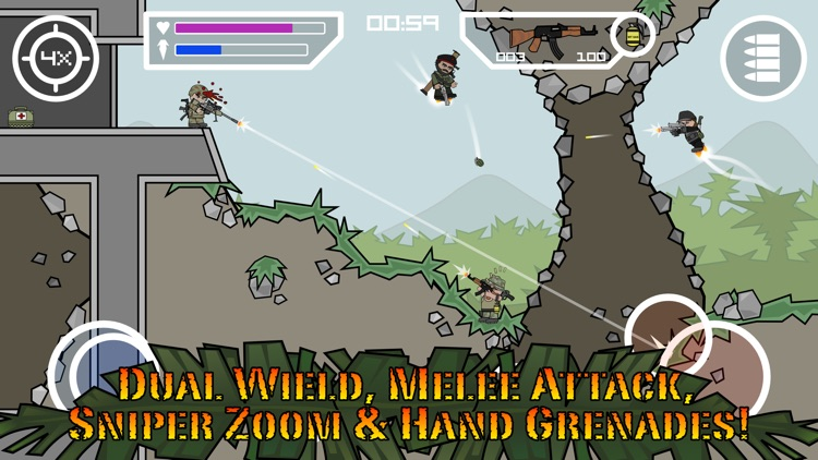 Doodle Army 2 : Mini Militia screenshot-1