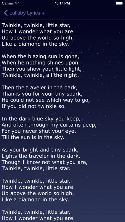 Lullaby Lyrics + Words to Lullabies, Kid Songs