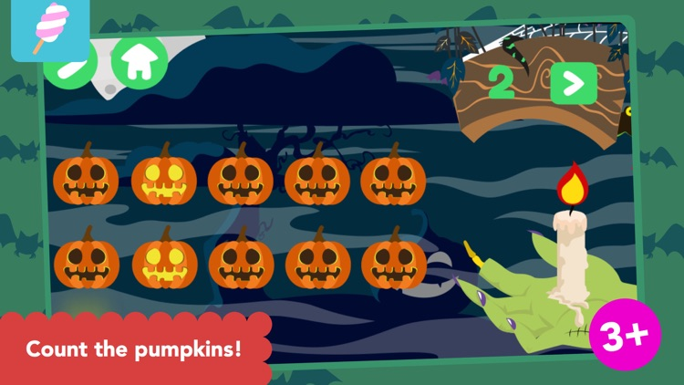 Math Tales trick-or-treating: Halloween counting