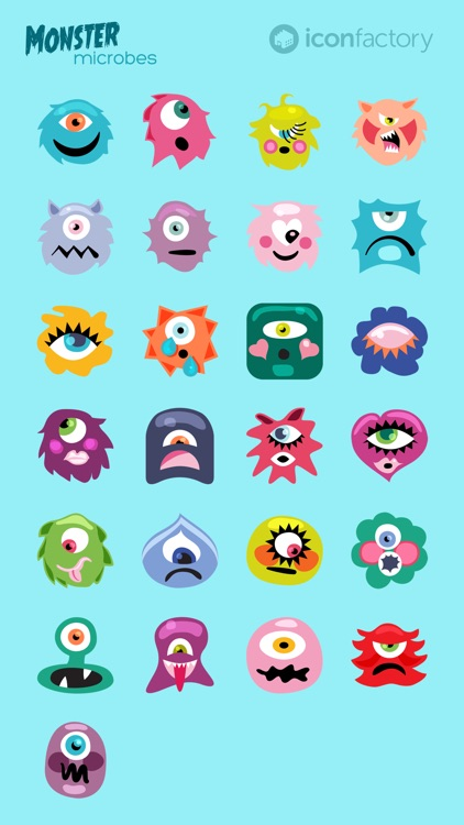Iconfactory Monster Microbes Stickers