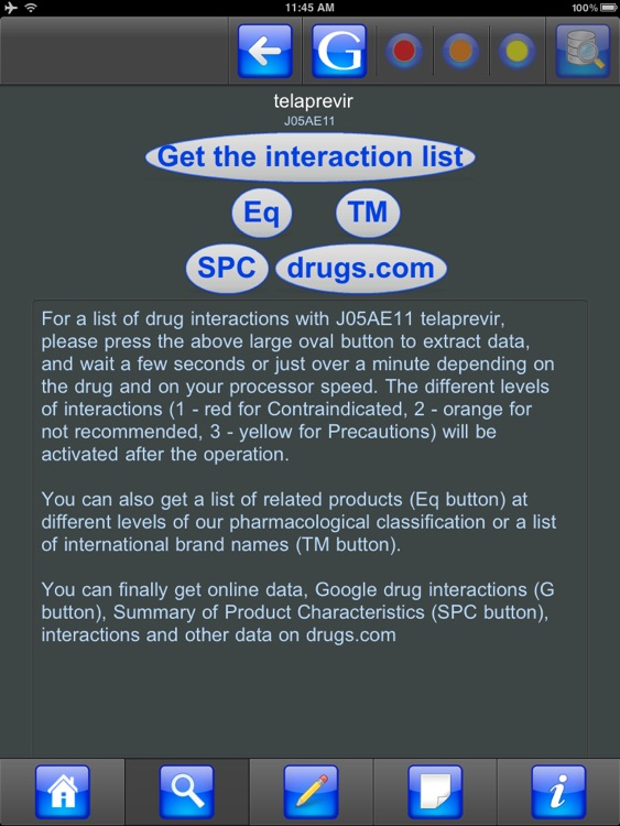 Drug Interactions for iPad